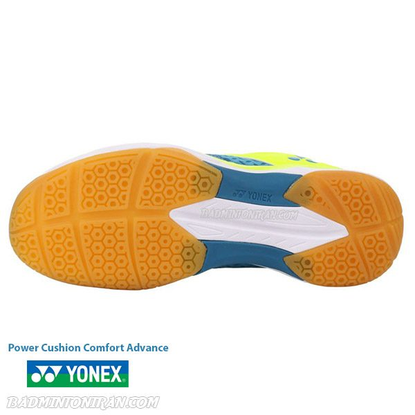 yonex power cushion comfort advance 2 peacock blue 3 بدمینتون ایران