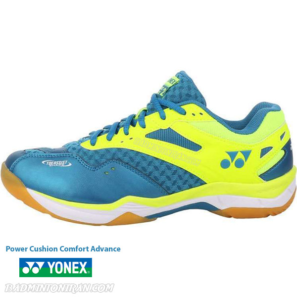 yonex power cushion comfort advance 2 peacock blue بدمینتون ایران