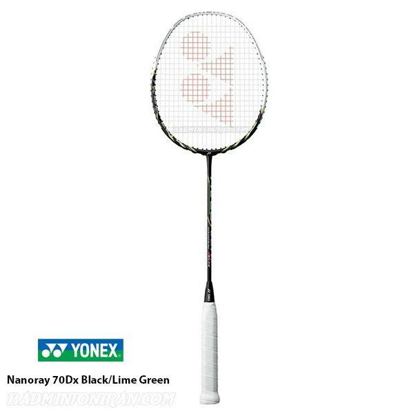 Yonex Nanoray 70Dx Black Lime Green 1 بدمینتون ایران