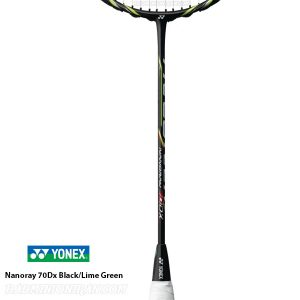 Yonex Nanoray 70Dx Black Lime Green 2 بدمینتون ایران