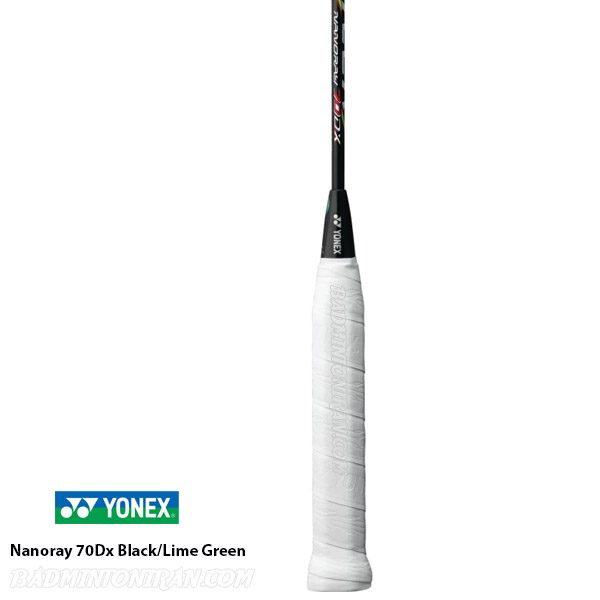 Yonex Nanoray 70Dx Black Lime Green 4 بدمینتون ایران