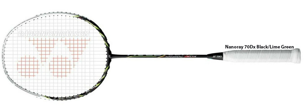 Yonex-Nanoray-70Dx-Black-Lime-Green