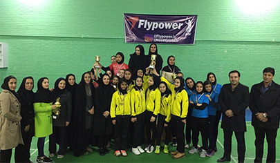 omid pona mashhad team won the championship of the second division womens badminton league بدمینتون ایران