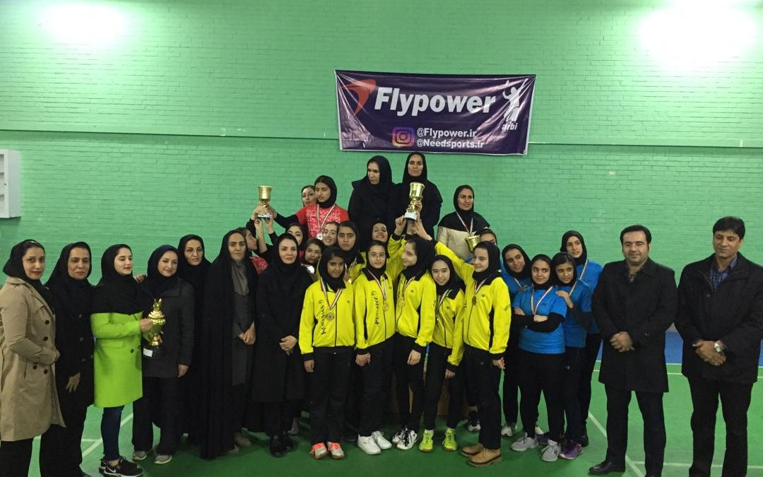 omid pona mashhad team won the championship of the second division womens badminton league1398 بدمینتون ایران