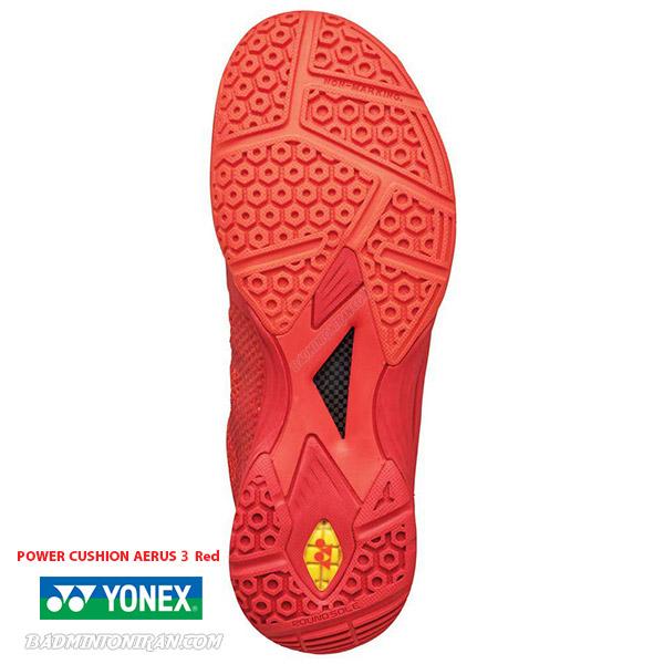 YONEX POWER CUSHION AERUS 3 Red 3 بدمینتون ایران