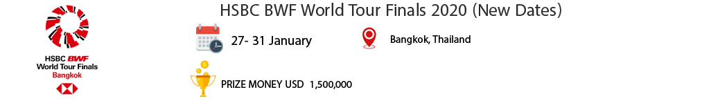 HSBC BWF World Tour Finals 2020 New Dates 1 بدمینتون ایران
